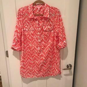 Lilly Pulitzer Captiva shirtdress coverup Large